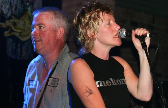 Sally TImms and Jon Langford, The Mekons 2004. © Per Ole Hagen